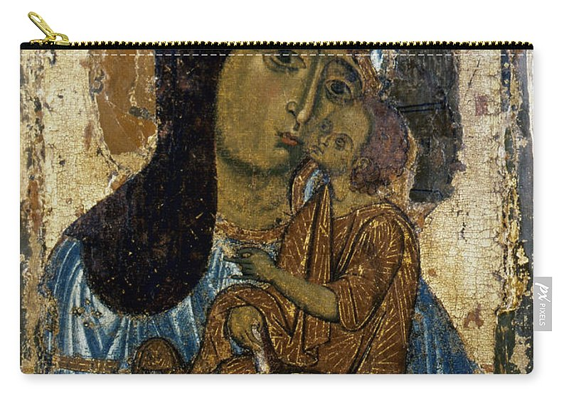12th Century Carry-all Pouch featuring the photograph Our Lady Of Tenderness by Granger