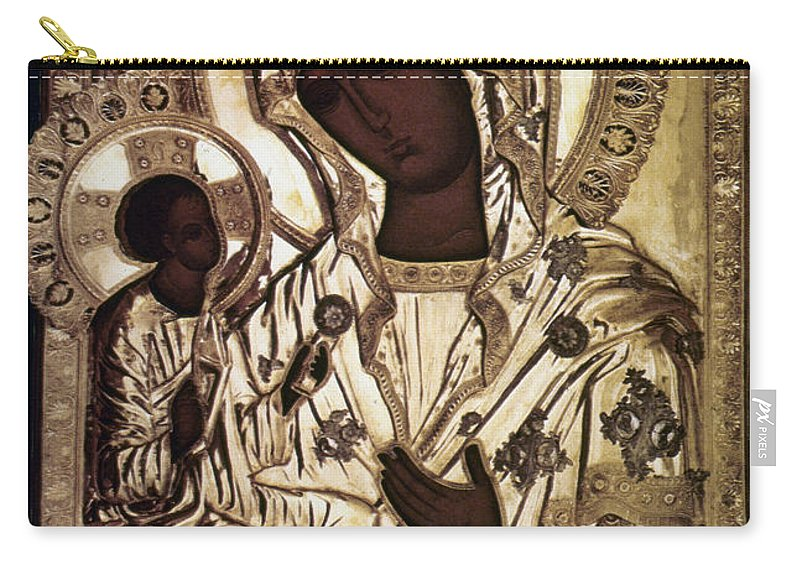16th Century Carry-all Pouch featuring the photograph Our Lady Of Yevsemanisk by Granger