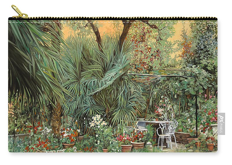 Garden Carry-all Pouch featuring the painting Our Little Garden by Guido Borelli