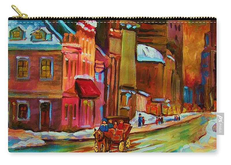 Montreal Carry-all Pouch featuring the painting Our Perfect Day by Carole Spandau