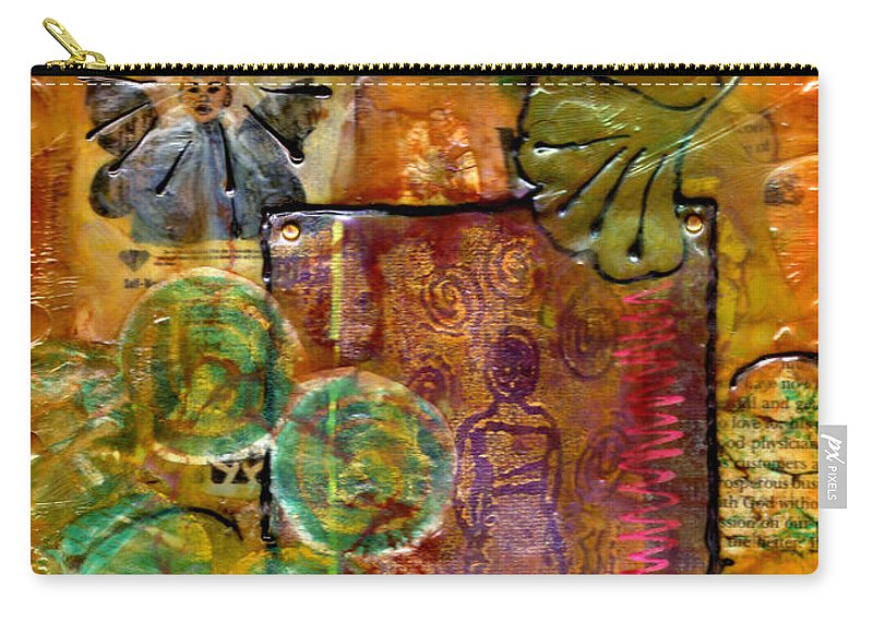 Wood Carry-all Pouch featuring the mixed media Our Salvation by Angela L Walker