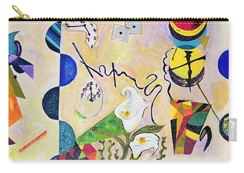 Art Nouveau Carry-all Pouch featuring the painting Our World by Maria Isabel Storniolo
