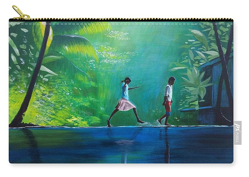 Philippines Carry-all Pouch featuring the painting Out And About by Jamie Melton