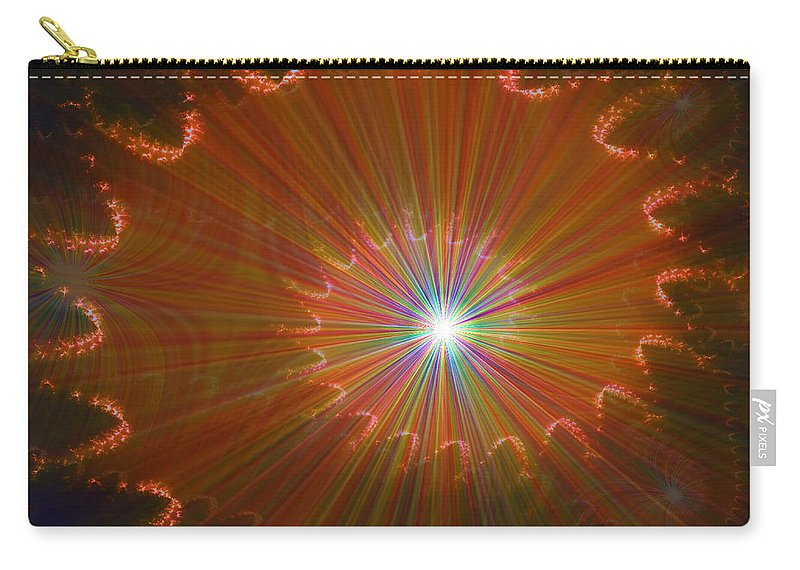 Super Nova Stars Another World Universe Abstract Spectrum Colorful Carry-all Pouch featuring the digital art Out Of Control by Andrea Lawrence