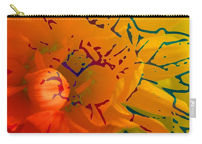 Abstract Carry-all Pouch featuring the mixed media Out Of It by Ruth Palmer