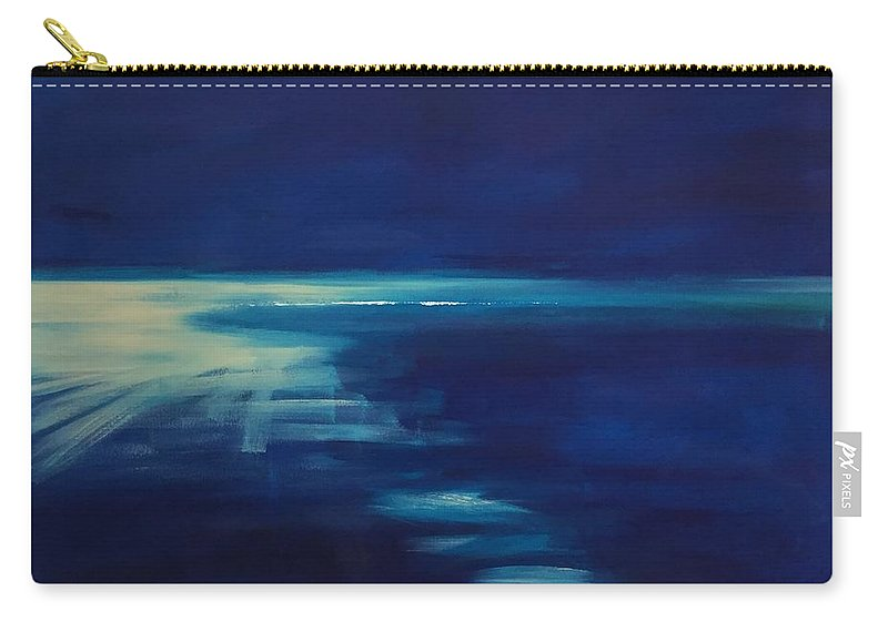 Blue Carry-all Pouch featuring the painting Out Of The Blue by Fiona Jack