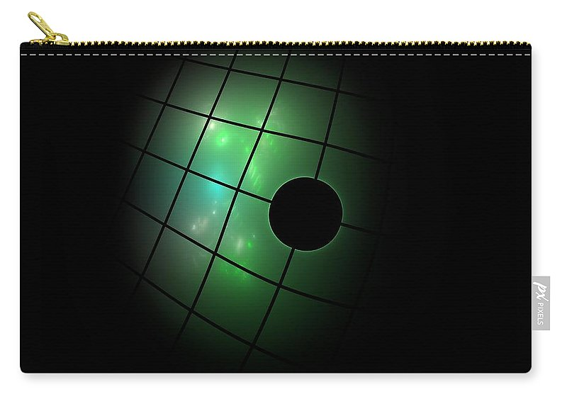 Dark Carry-all Pouch featuring the digital art Out Of The Dark by Steve K