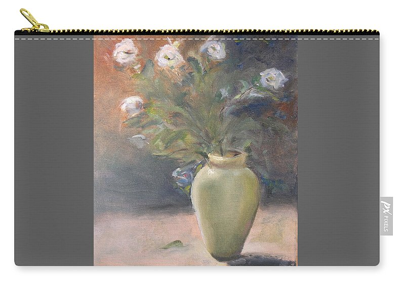 Flower Carry-all Pouch featuring the painting Out Of The Garden by Patricia Caldwell