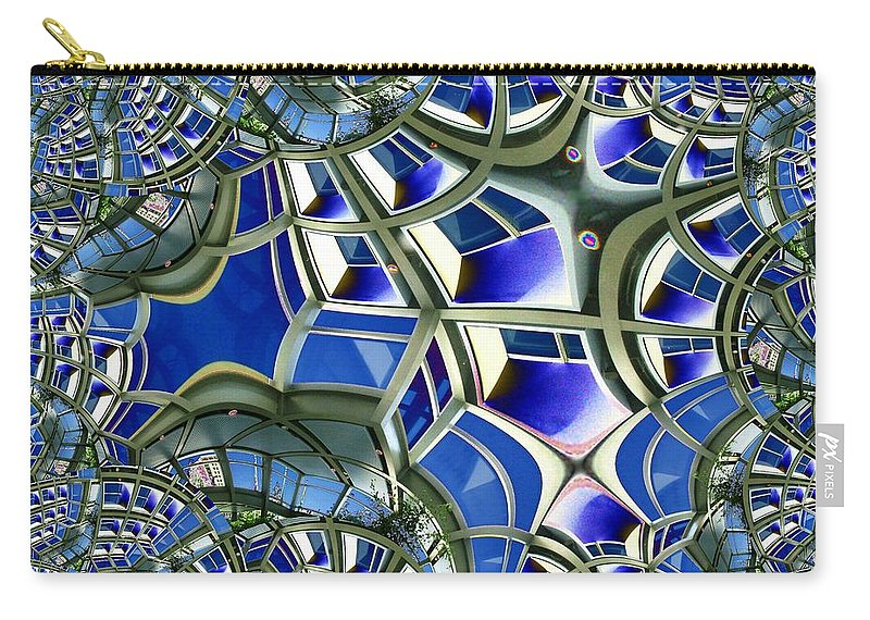 Windows Carry-all Pouch featuring the photograph Out The Looking Glass by Tim Allen
