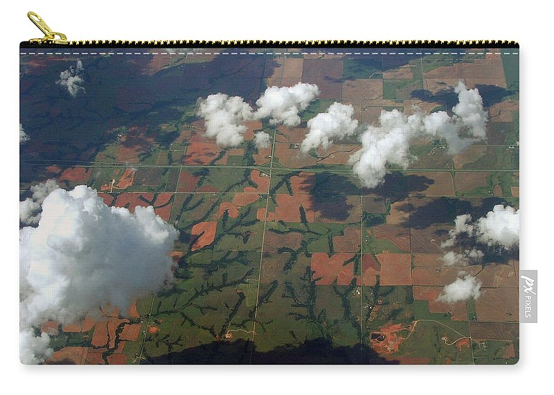 Clouds Carry-all Pouch featuring the photograph Out The Window by Robert Meanor