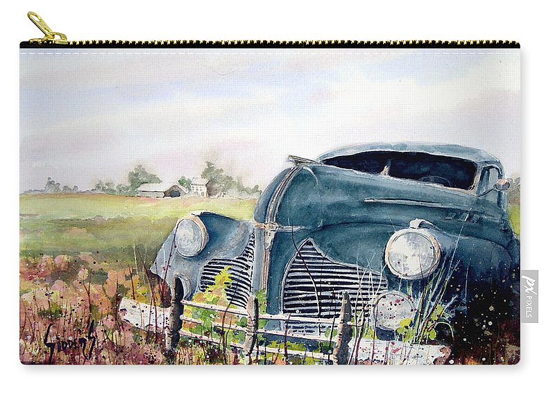 Classic Car Carry-all Pouch featuring the painting Out To Pasture by Sam Sidders