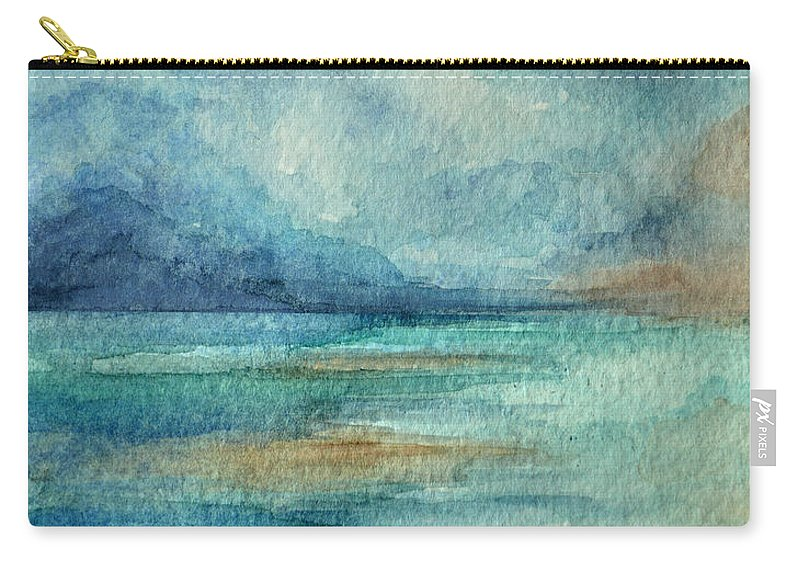 Abstract Carry-all Pouch featuring the painting Out To Sea by Julianne W