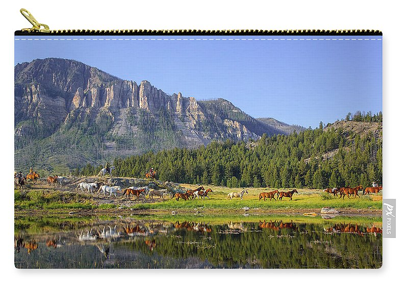 Horses Carry-all Pouch featuring the photograph Out West by Jack Bell