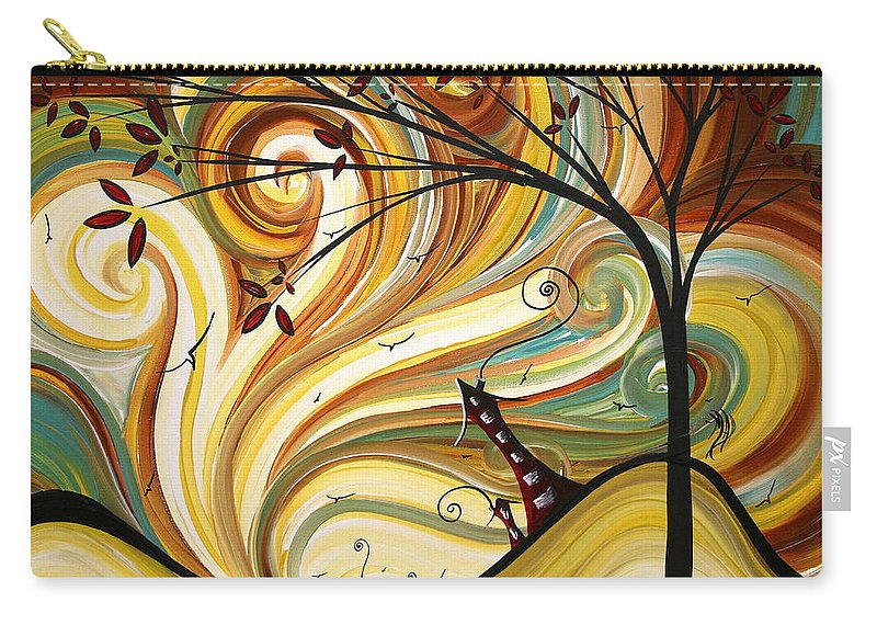 Art Carry-all Pouch featuring the painting OUT WEST Original MADART Painting by Megan Duncanson