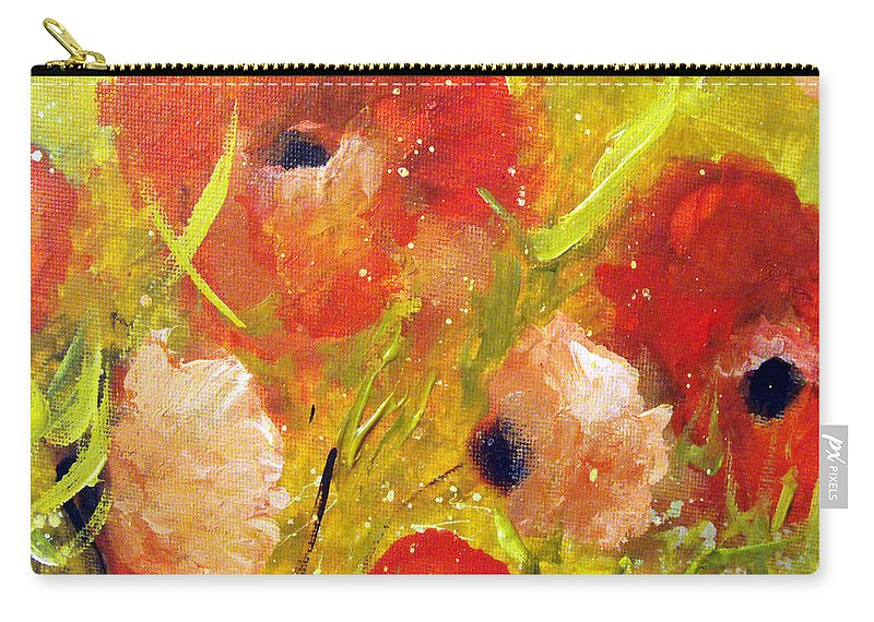 Decorative Carry-all Pouch featuring the painting Out With The Sun by Ruth Palmer