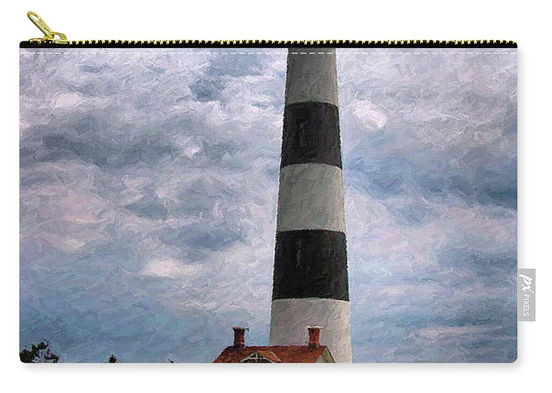Lighthouse Carry-all Pouch featuring the photograph Outer Banks Beach Lighhouse by Randy Steele