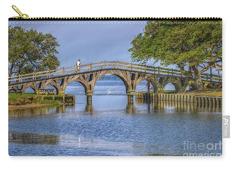 Summer Carry-all Pouch featuring the photograph Outer Banks Whalehead Club Bridge by Randy Steele