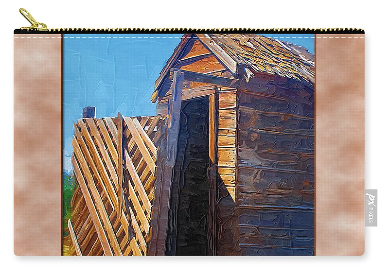 Outhouses Carry-all Pouch featuring the photograph Outhouse 2 by Susan Kinney
