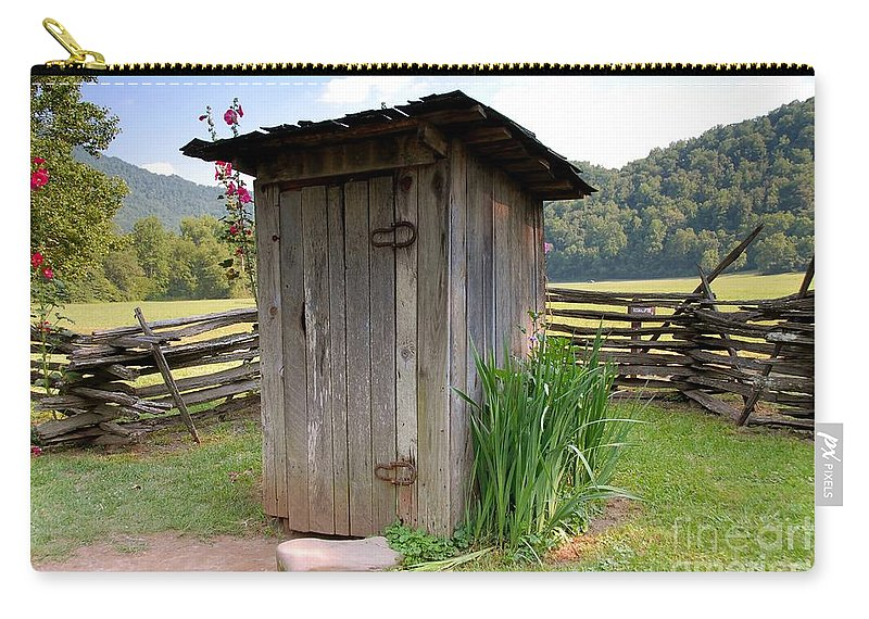 Outhouse Carry-all Pouch featuring the photograph Outhouse by David Lee Thompson
