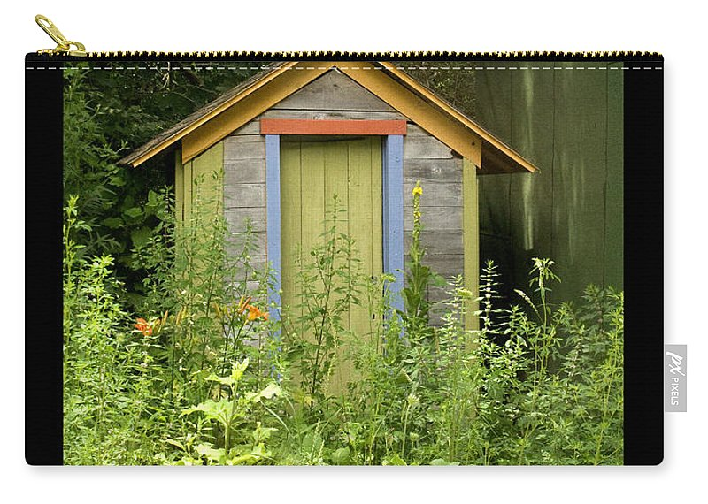 Outhouse Carry-all Pouch featuring the photograph Outhouse by Tim Nyberg
