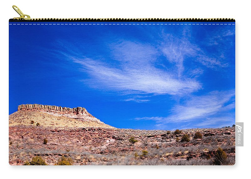 Red Carry-all Pouch featuring the photograph Outside Lyons Colorado by Marilyn Hunt