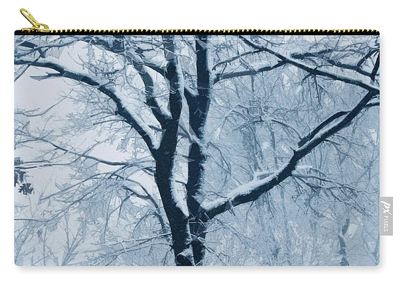 Trees Carry-all Pouch featuring the photograph Outside My Window by Linda Sannuti