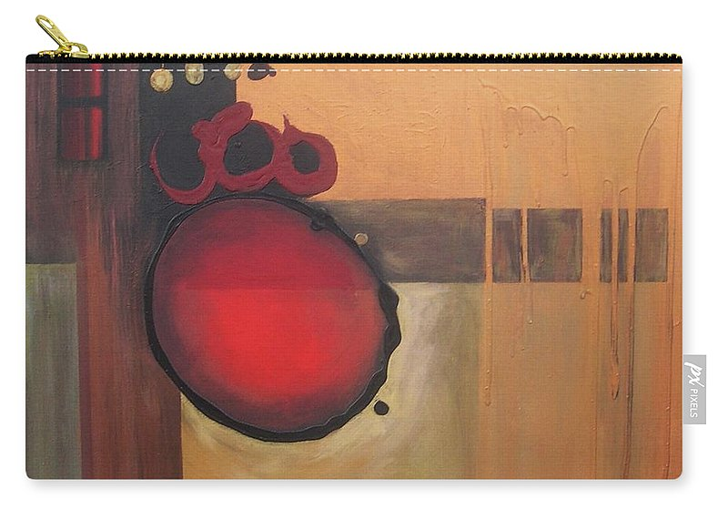 Abstract Carry-all Pouch featuring the painting Over Easy by Marlene Burns