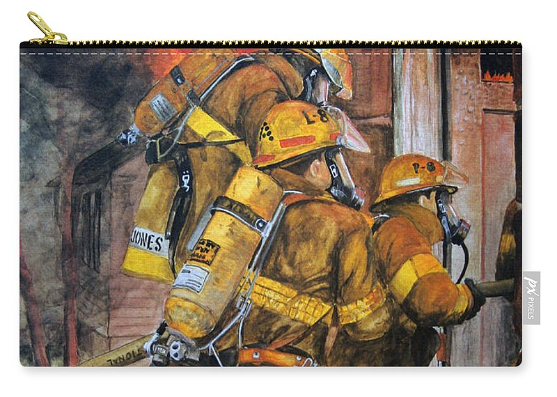 Fire Carry-all Pouch featuring the painting Over Head Heat by Paul Walsh