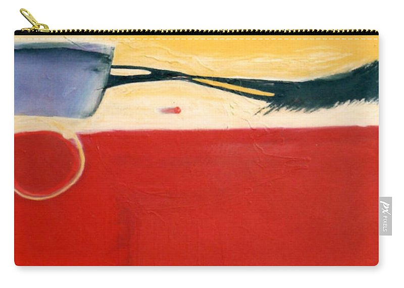 Red Carry-all Pouch featuring the painting Over Optics by Marlene Burns