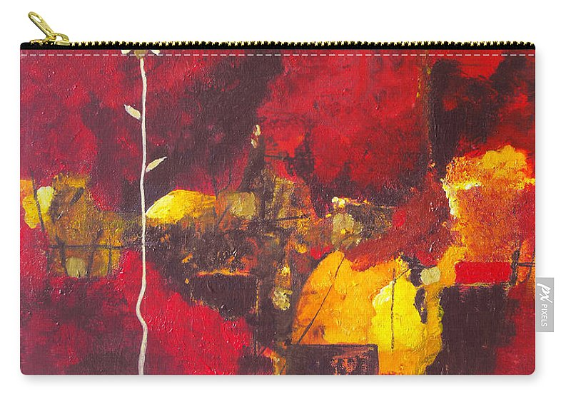 Abstract Carry-all Pouch featuring the painting Over The Broken Fence by Ruth Palmer