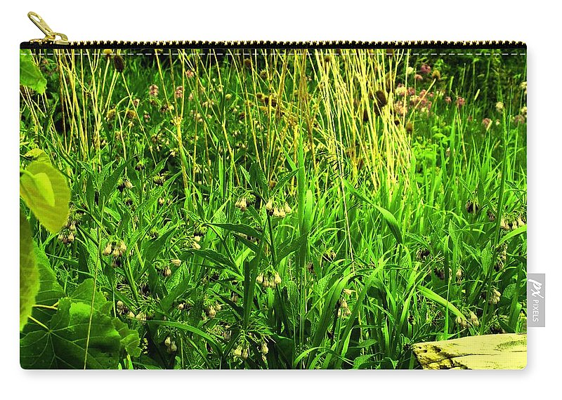Fence Carry-all Pouch featuring the photograph Over The Fence by Ian MacDonald