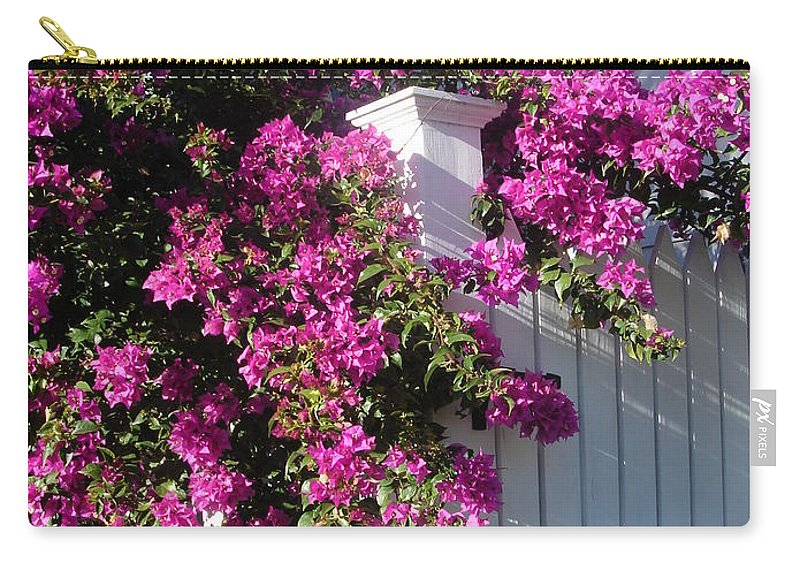 Flower Carry-all Pouch featuring the photograph Over The Fence by Susanne Van Hulst