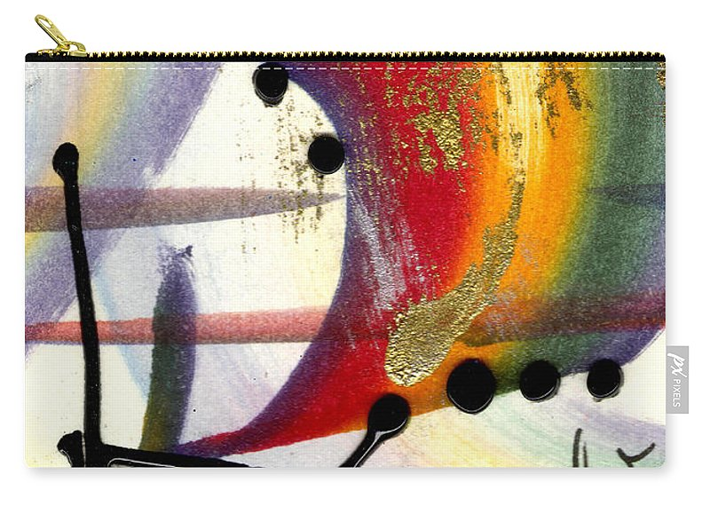 Vibrant Carry-all Pouch featuring the mixed media Over The Rainbow by Angela L Walker