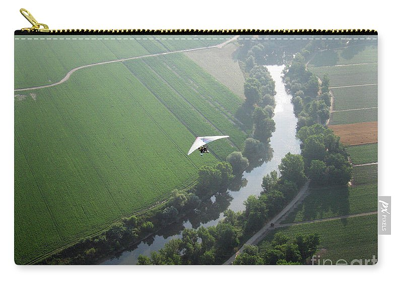 Balloons Carry-all Pouch featuring the photograph Over The River by Ilaria Andreucci