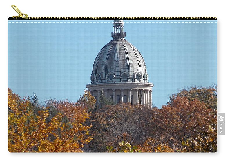Providence Carry-all Pouch featuring the photograph Over The Tree Tops by Catherine Gagne