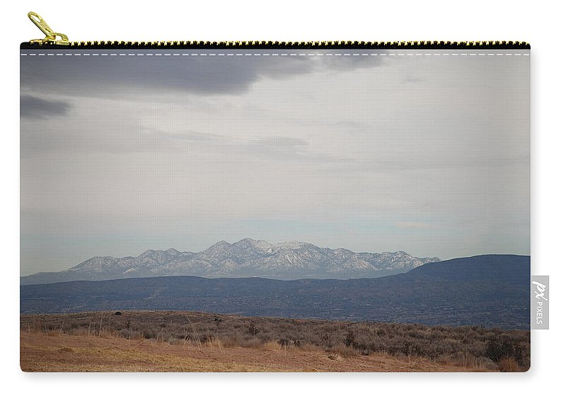 Mountains Carry-all Pouch featuring the photograph Overcast On The Sandias by Rob Hans