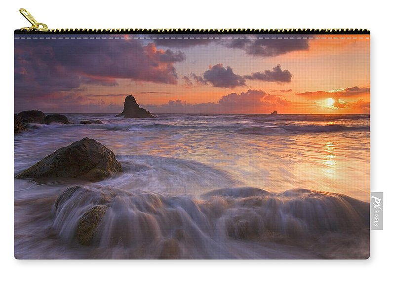Sunset Carry-all Pouch featuring the photograph Overcome by Mike Dawson