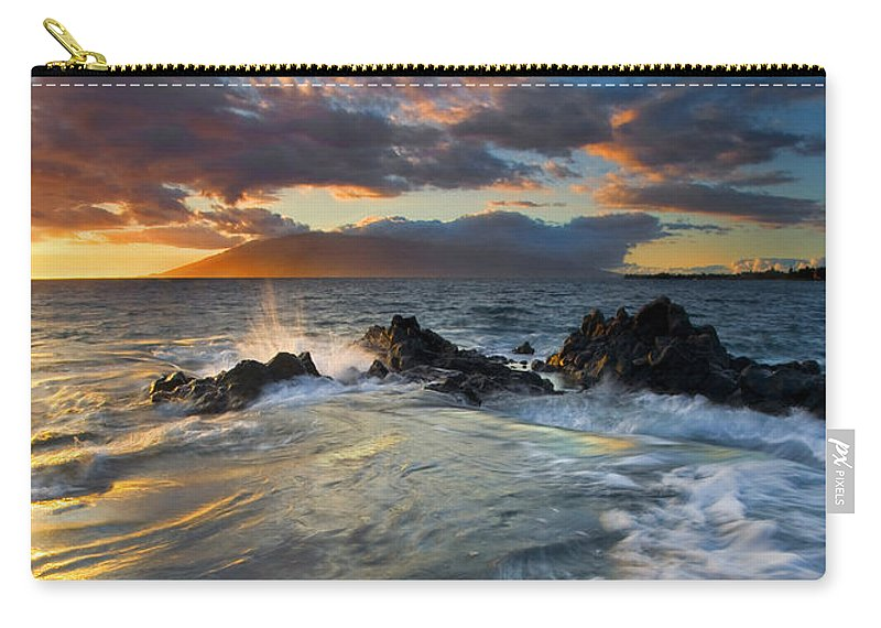 Cauldron Carry-all Pouch featuring the photograph Overflow by Mike Dawson