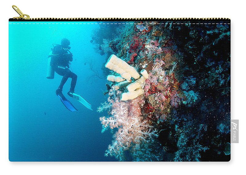 Carry-all Pouch featuring the photograph Overgrown Coral by Todd Hummel