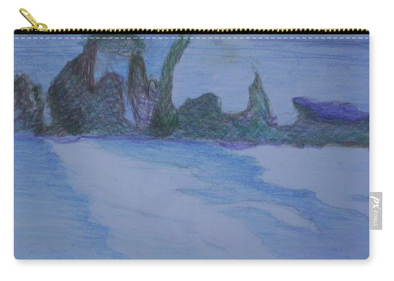 Abstract Painting Carry-all Pouch featuring the painting Overlap by Suzanne Udell Levinger