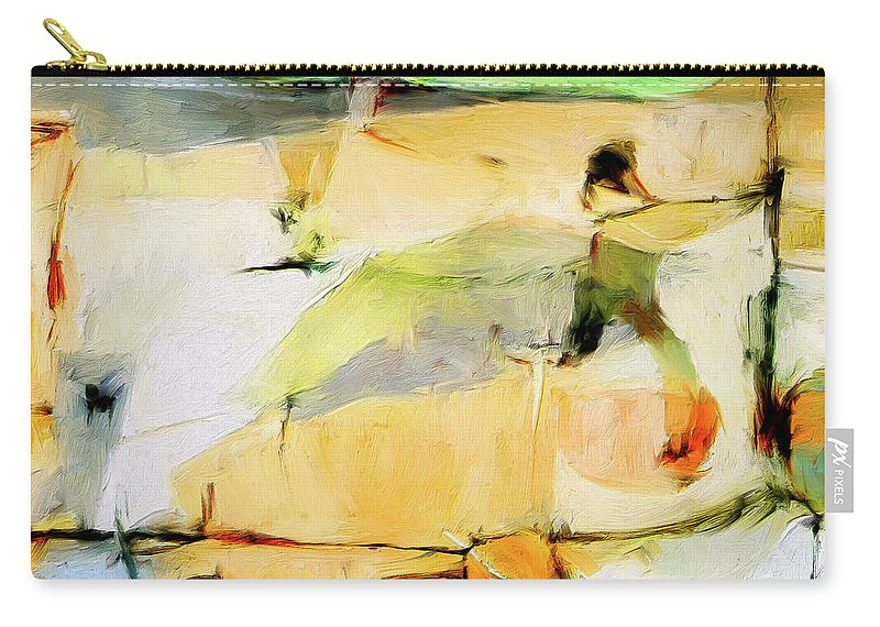 Abstract Carry-all Pouch featuring the painting Overlook by Dominic Piperata