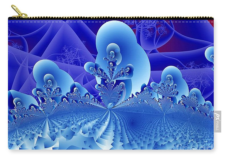 Fractal Image Carry-all Pouch featuring the digital art Overlook by Ron Bissett