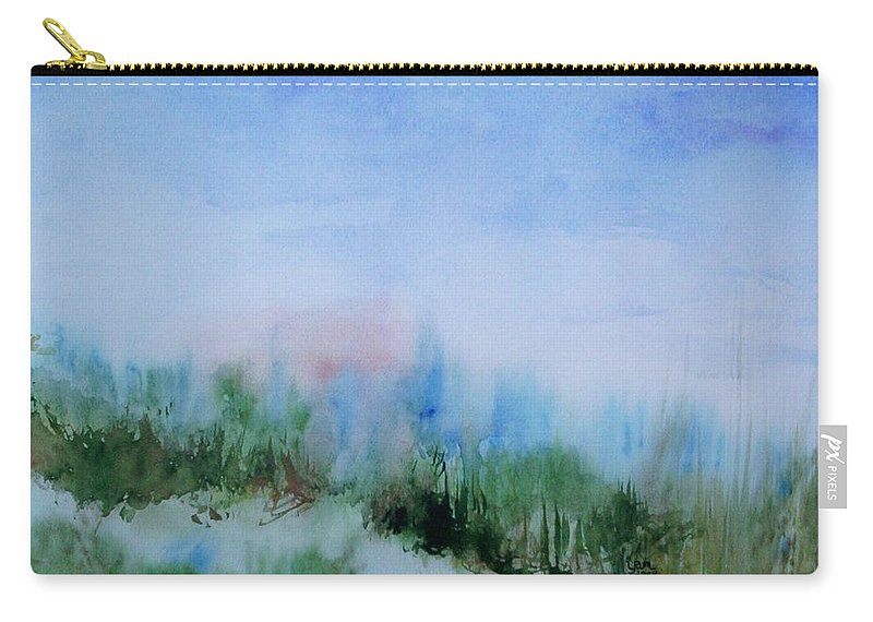 Landscape Carry-all Pouch featuring the painting Overlook by Suzanne Udell Levinger
