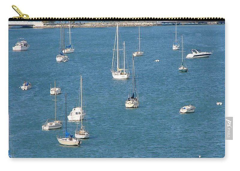 Landscape Carry-all Pouch featuring the photograph Overlooking A Miami Marina by Margaret Bobb