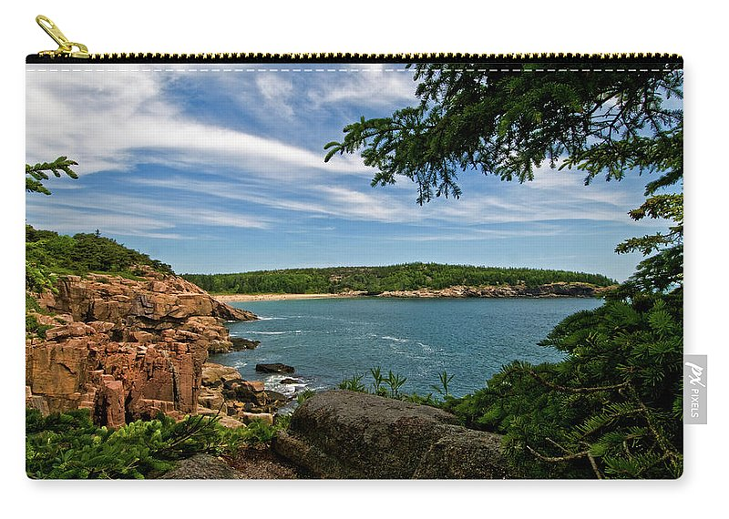 sand Beach Carry-all Pouch featuring the photograph Overlooking Sand Beach by Paul Mangold