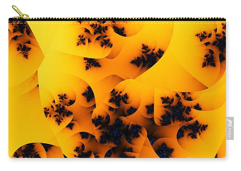 Fractal Art Carry-all Pouch featuring the digital art Ovule by Ron Bissett