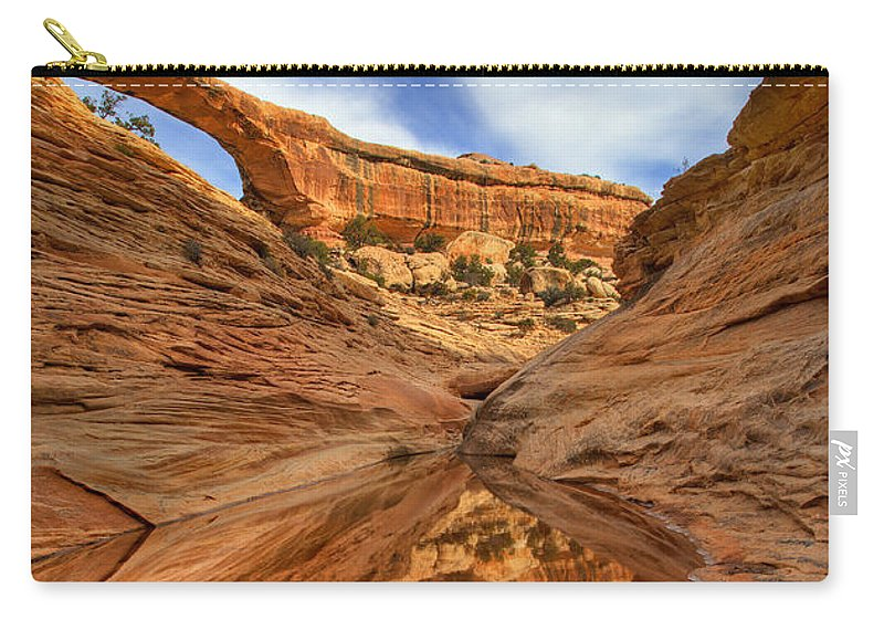 Bridge Carry-all Pouch featuring the photograph Owachomo Reflected by Mike Dawson