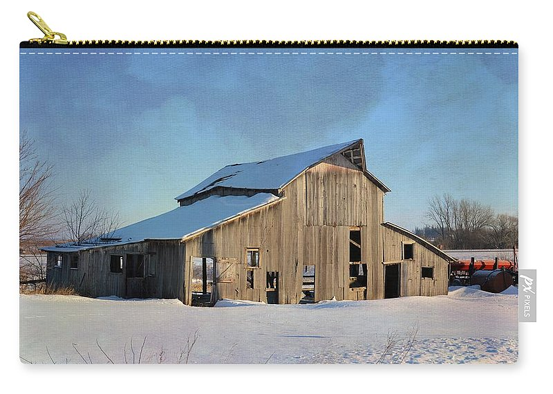 Digital Art Carry-all Pouch featuring the photograph Owasa Barn 4 by Bonfire Photography