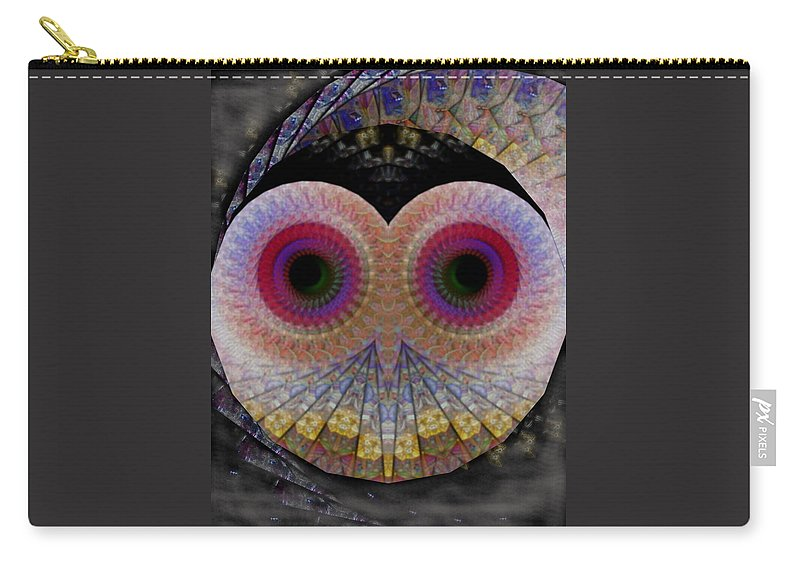 James Smullins Carry-all Pouch featuring the digital art Owl Abstract by James Smullins