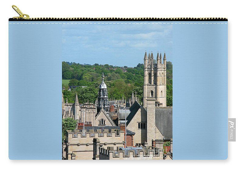 Oxford Carry-all Pouch featuring the photograph Oxford Tower View by Ann Horn